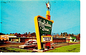 Lumberton Nc Holiday Inn Postcard P6589 Vintage Cars