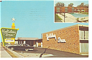 Rocky Mount NC Holiday Inn Postcard p6590 Vintage Cars				 (Image1)