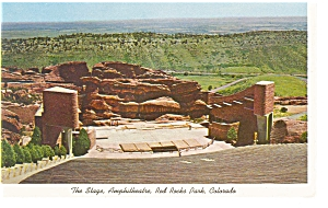 The Stage At Red Rocks Park Colorado Postcard P6602