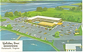 Portsmouth, VA, Holiday Inn Downtown Postcard (Image1)