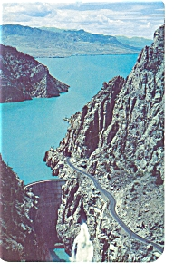 Wyoming, Shoshone Reservoir, Buffalo Bill Dam Postcard (Image1)