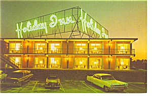 Durham Nc Holiday Inn Postcard P6638 Vintage Cars