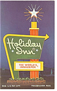 Perrysburg OH, Holiday Inn Sign Postcard p6649 (Image1)