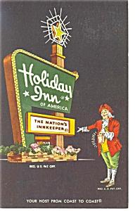 Wilson NC Holiday Inn Sign Postcard p6651 (Image1)