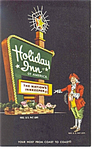 Bowling Green Oh Holiday Inn Sign Postcard P6652