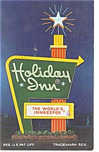 Perrysburg OH Holiday Inn Sign  Postcard p6675 (Image1)