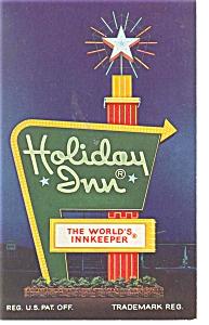 Dayton OH Holiday Inn Sign  Postcard p6676 (Image1)