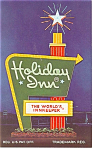 Kent Oh Holiday Inn Sign Postcard P6677
