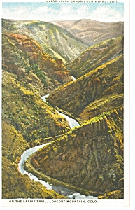 Clear Creek Canyon CO From Windy Point Postcard p6698 (Image1)