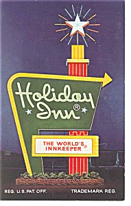 Newport News,VA,  Holiday Inn Sign Postcard (Image1)