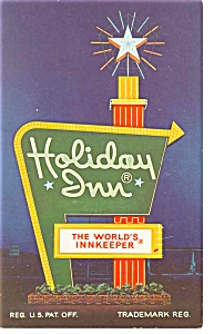 Petersburg,VA,  Holiday Inn Sign Postcard (Image1)