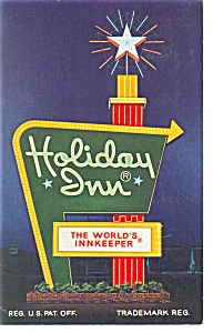 Henryetta, OK,  Holiday Inn Sign Postcard (Image1)