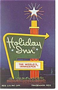 Cleveland Oh Holiday Inn Sign Postcard P6729