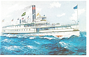 Passenger Ship Ticonderoga Postcard p6764 (Image1)