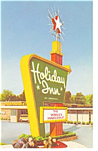 Akron  OH Holiday Inn Sign Postcard p6780 (Image1)