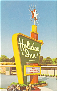 Findlay OH Holiday Inn Sign Postcard p6781 (Image1)