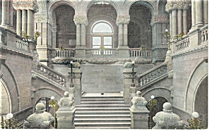 Ornate Staircase Postcard