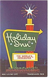 Richfield Oh Holiday Inn Sign Postcard P6791