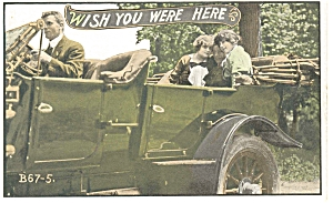 Wish You Were Here Postcard Cars 1910s (Image1)