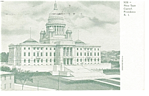 Providence RI State Capitol  Postcard p6814 (Image1)