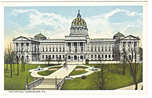 Harrisburg, PA, State Capitol  Postcard (Image1)
