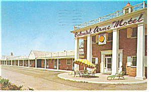 Penns Grove, NJ, Colonial Arms Motel Postcard (Image1)