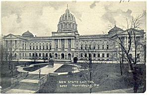 Harrisburg, PA, State Capitol Postcard 1907 (Image1)