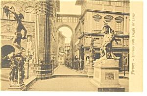 Firenze,Italy, Interno della Loggia de Lanzi Postcard (Image1)