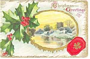 Christmas Greetings Postcard p6857 1914 (Image1)