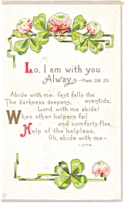 Lo I Am With You Alway Matt.28:20 Postcard p6902 (Image1)