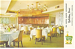 Fayetteville NC Holiday Inn Restaurant Postcard p6948 (Image1)