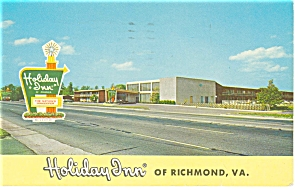 Richmond, VA, Holiday Inn Postcard (Image1)