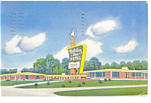 Greensboro NC Holiday Inn Hotel  Postcard p6970 (Image1)