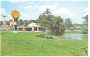 West Richfield Oh The Rainbow Motel Postcard P6989