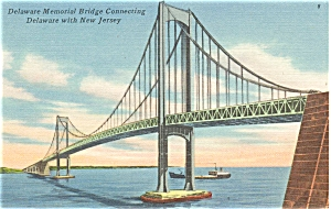 Delaware Memorial Bridge, Linen Card (Image1)