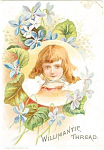 Willamantic Thread Trade Card p7042 (Image1)