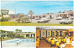 Hardeeville Sc Holiday Inn Vintage Cars Postcard P7079a