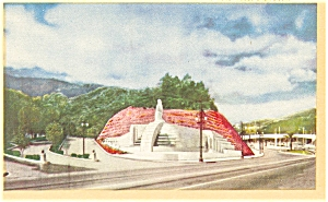 Hollywood Ca Hollywood Bowl Linen Postcard P7090