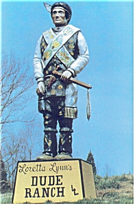 Loretta Lynn's Dude Ranch Indian Postcard (Image1)