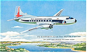 Eastern Airlines Silver Falcon Propliner Postcard p7113 (Image1)