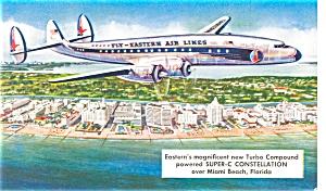 Eastern Airlines Constellation Propliner Postcard p7114 (Image1)