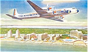 Eastern Airlines Golden Falcon DC-7 Propliner Postcard p7115 (Image1)