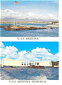 USS Arizona Memorial Postcard p7127 (Image1)
