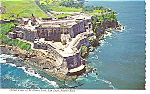 El Morro Fort San Juan Puerto Rico Postcard (Image1)