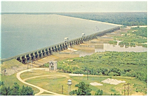 Lake Marion, SC, Santee Dam and Spillway Postcard (Image1)