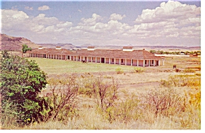 Fort Davis TX Enlisted Men s Barracks Postcard p7169 (Image1)