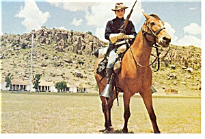 Fort Davis TX Cavalryman Postcard p7170 (Image1)