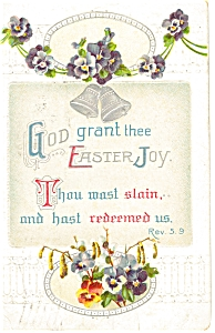 God Grant Thee Easter Joy Postcard 1913 (Image1)