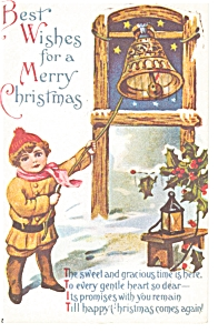 Best Wishes for a Merry Christmas Postcard p7193 (Image1)
