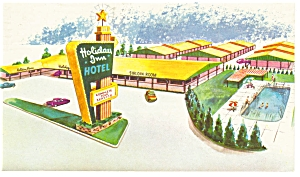 Oklahoma City, OK, The Holiday Inn  Postcard on US 66 (Image1)